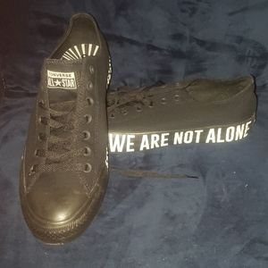 "New Converse CTAS OX ""WE ARE NOT ALONE""9.5M/11.5W"